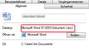 01 Quicktipp Vollversionen von Microsoft Office Compatibility Pack aelteres Word Dokument Eigenschaften 470