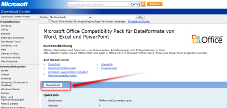 05 Quicktipp Vollversionen von Microsoft Office Compatibility Pack download Schritt1