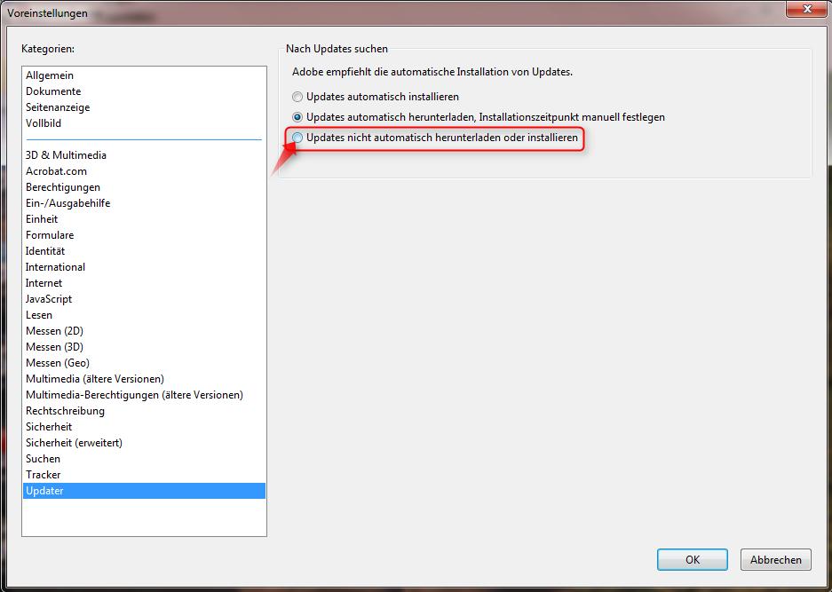 Adobe reader updates windows 7 - f670