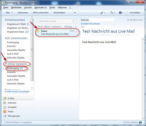 03 T Online Email Windows Live Mail einrichten