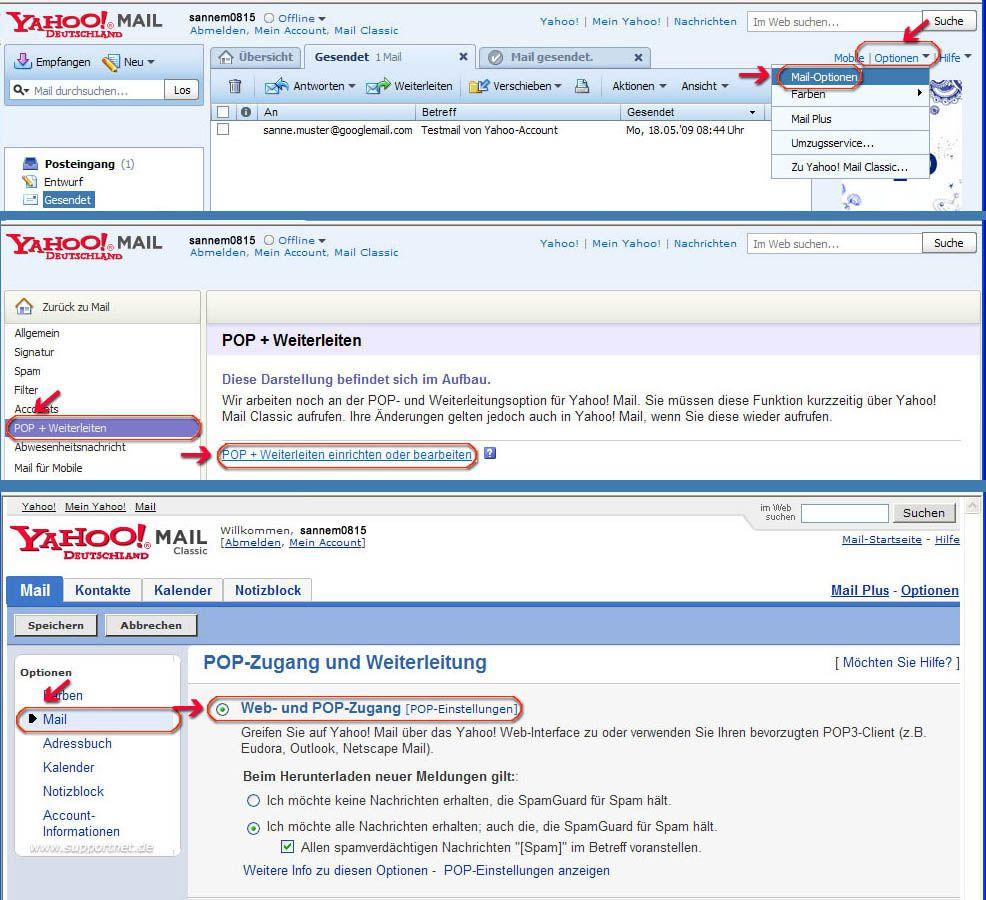 Outlook 2007 POP3-E-Mail-Konto für Yahoo.de erstellen und einrichten ...