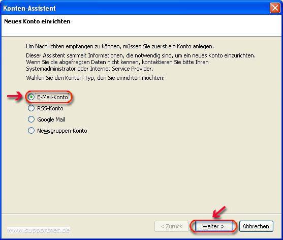 Thunderbird POP3-E-Mail-Konto für hotmail.de erstellen und
