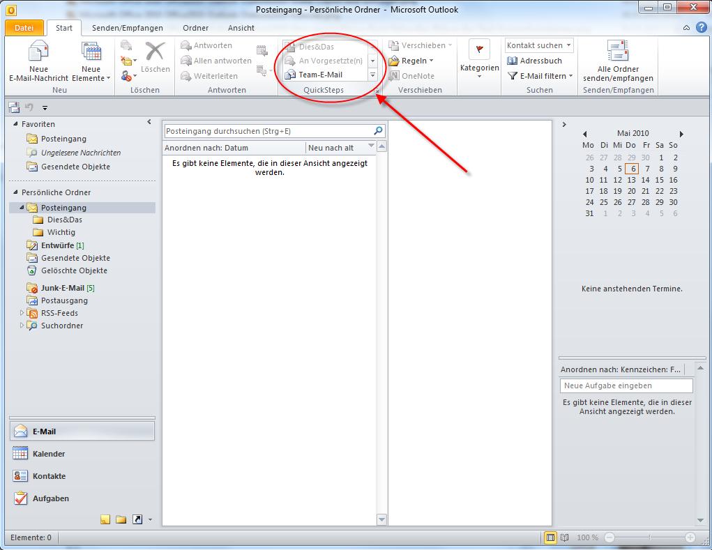 04-Microsoft-Office-2010-Office2010-Outlook-Outlook2010-Menueband-Menue-Band-RibbonBar-Ribbon-Bar-Start-QuickSteps-Quick-Steps_470.png