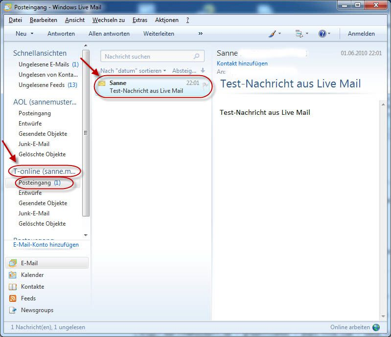 Windows Live Mail T Online