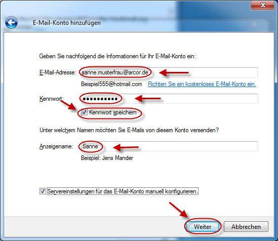 www arcor de login posteingang