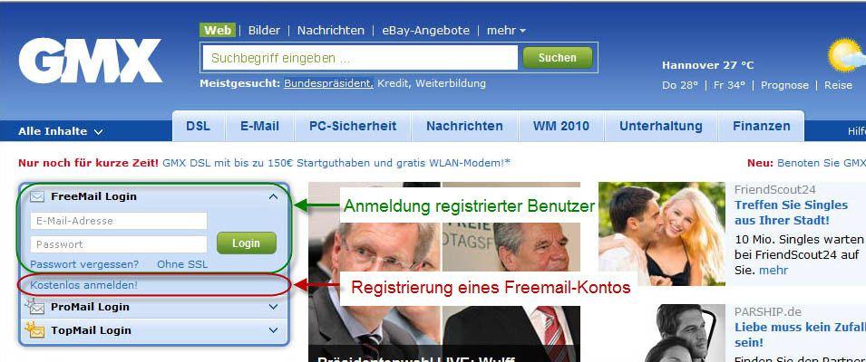 Gmx Registrierung