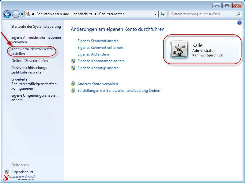 computer passwort einrichten