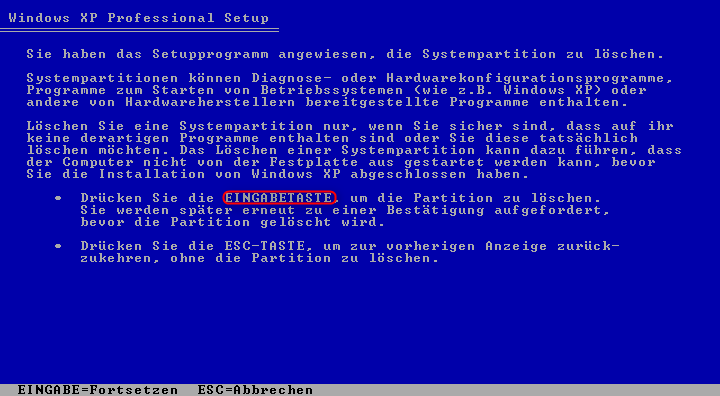 02b-Windows-XP-Installation-Systempartition-loeschen-470.png