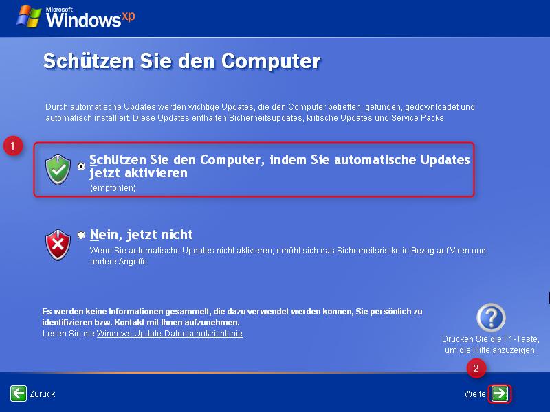 17-Windows-XP-Installation-automatische-Updates-aktivieren-470.png
