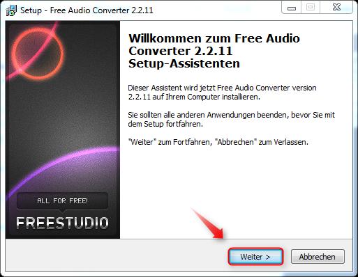 02-FreeAudioConverter-Setup-starten-470.png