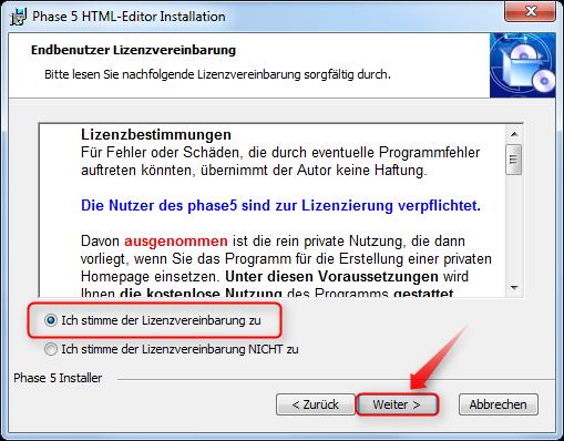 02-Phase5-HTML-Editor-Installation-Lizenzvereinbarung-akzeptieren-470.png