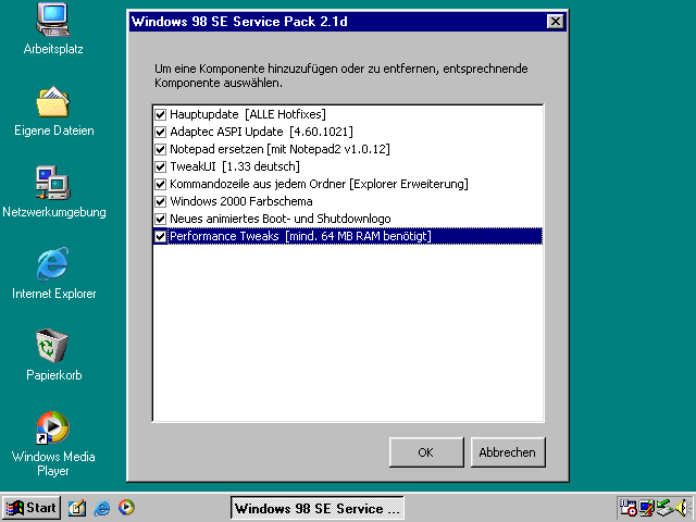 Microsoft Windows 98 Second Edition – Die letzte Grenze