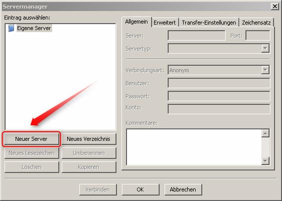 02-Mit-Filezilla-Dateien-auf-Webspace-hochladen-neuen-Server-anlegen-470.png