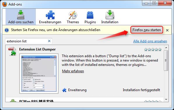 04-AddOn-Manager-Extension-List-Dumper-Firefox-Neustart-470.png