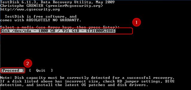 02-Testdisk-Partition-wiederherstellen-Festplatte-auswaehlen-470.png?nocache=1302253745983