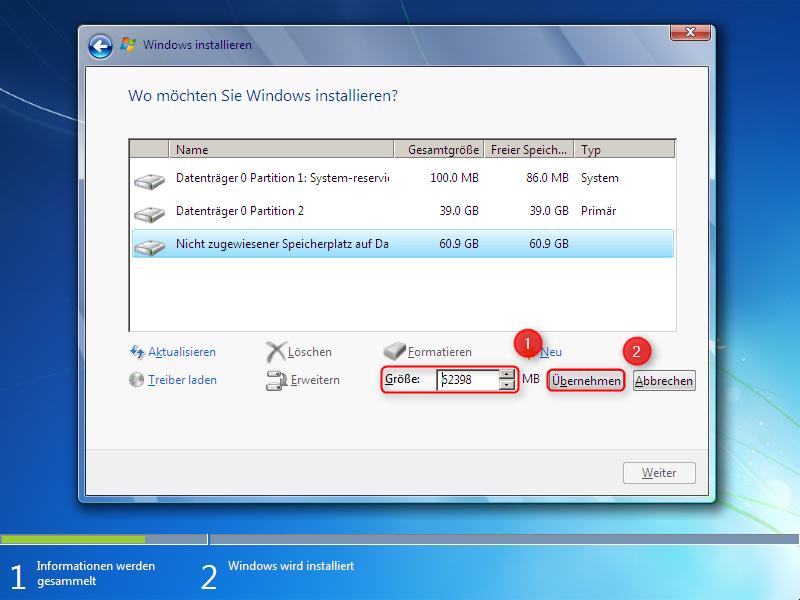 10-Windows-7-Installation-zweite-Partition-erstellen-Festplattengroesse-angeben-470.png?nocache=1302771403297