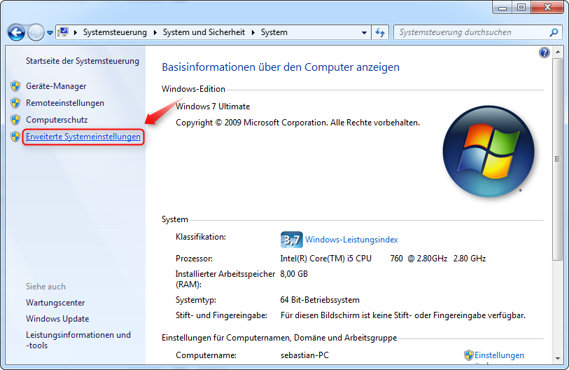 öffne gerätemanager windows 10