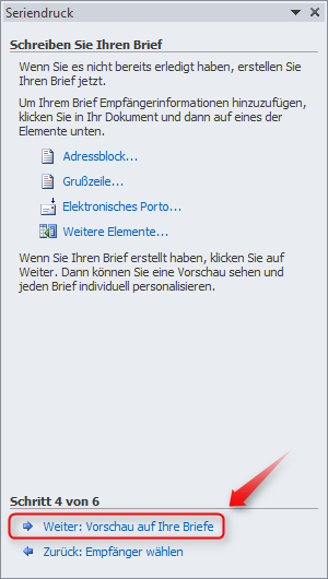Serienbrief Seriendruck Erstellen In Word 2010 Supportnet