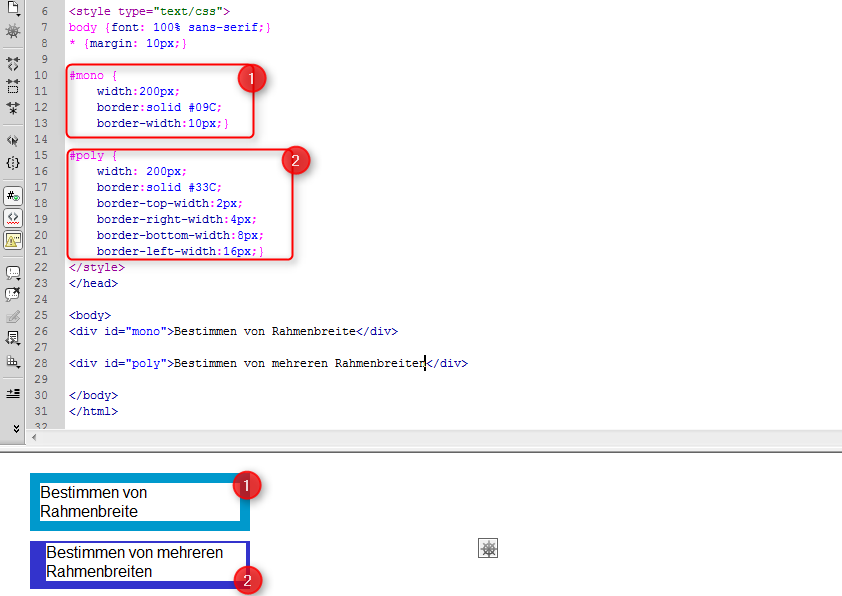 Gestalten mit CSS – Rahmen und Abstände – Supportnet