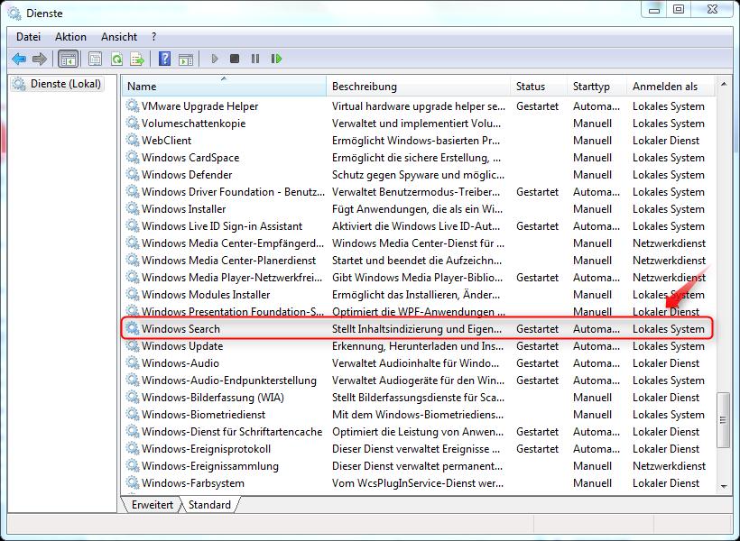 indizierung windows 10 aktivieren
