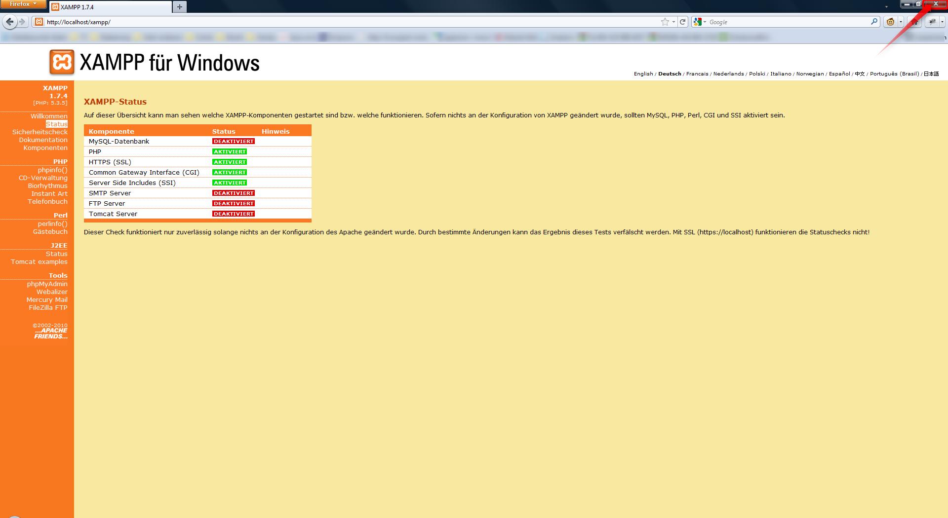 06-php-xampp-installieren-status-uebersicht-470.png?nocache=1307454128596