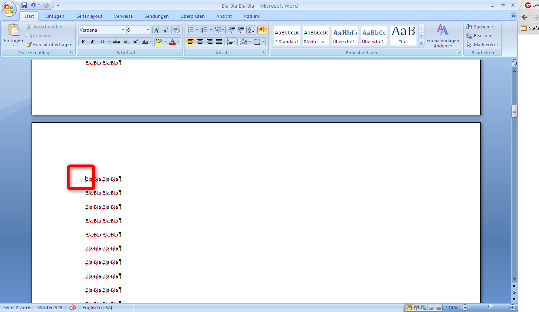 Microsoft Word 2007 Seitenzahlen Ab Seite 2 Oder Danach Einfügen