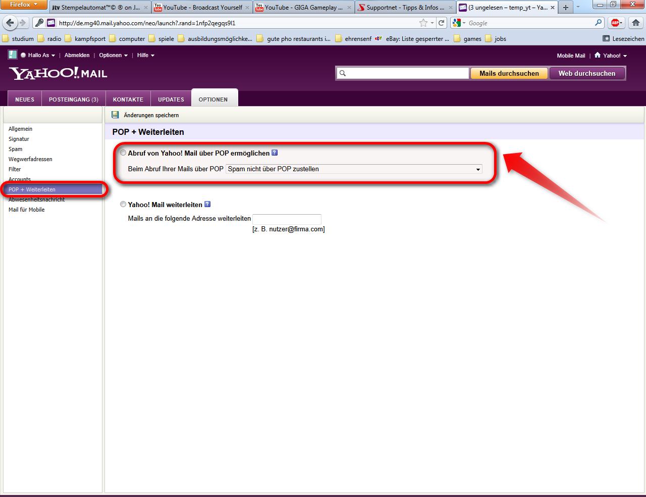 Yahoo-Mail-Konto für Thunderbird einrichten – Supportnet