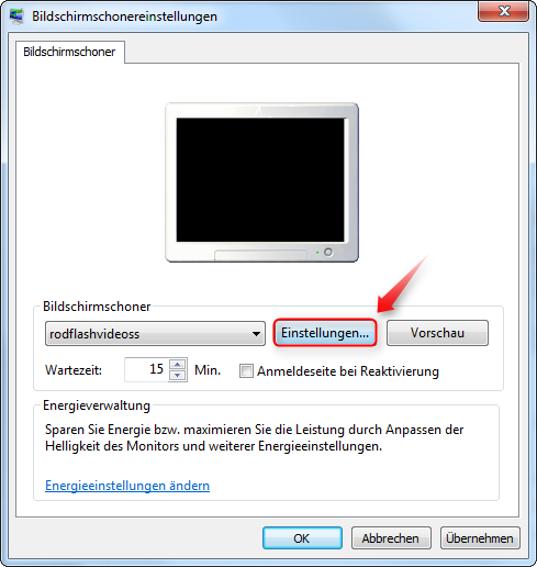 video bildschirmschoner windows 10