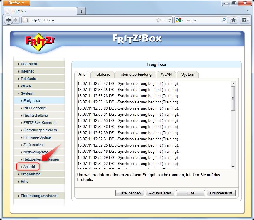 03-Fritzbox-Port-Weiterleitung-Einstellungen-System-Ansicht-oeffnen-470.png?nocache=1311056697905