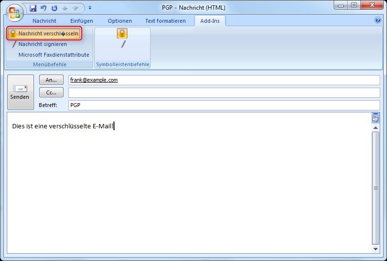 PGP/GPG-Verschlüsselung für Outlook einrichten – Supportnet