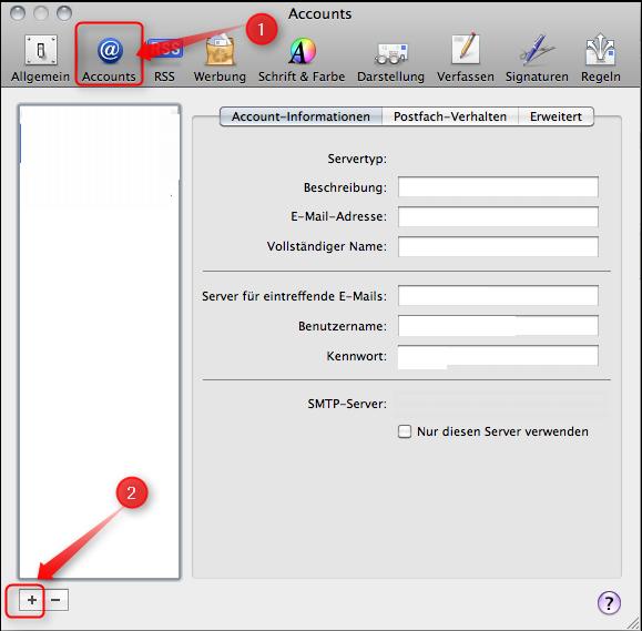 Apple Mail - Email-Konto für Hotmail einrichten - Supportnet