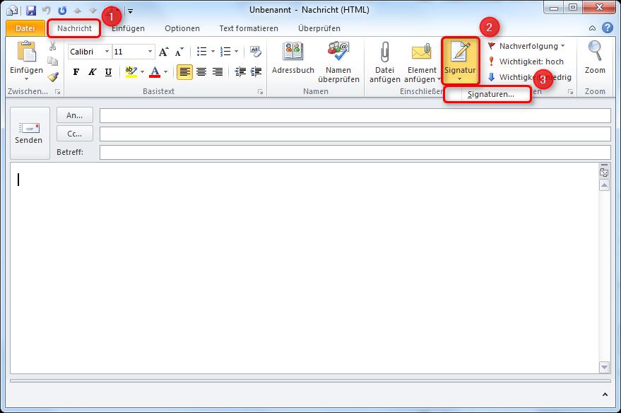 Outlook Signatur Einrichten Windows Live Mail Signatur