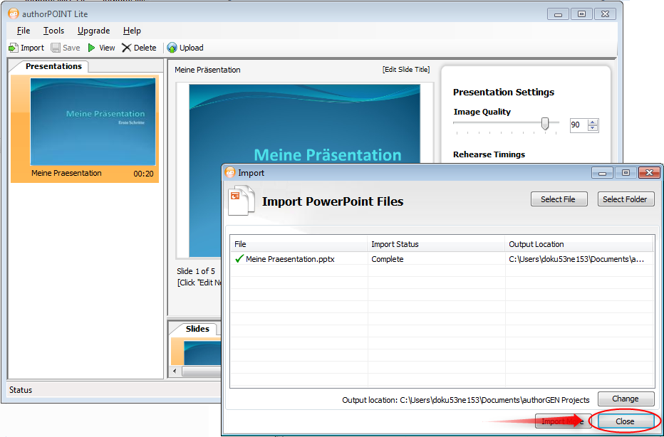 08-authorPOINT-Lite-Import-PowerPoint-Files-Import-Status-Complete-Close-470.png?nocache=1317409253332