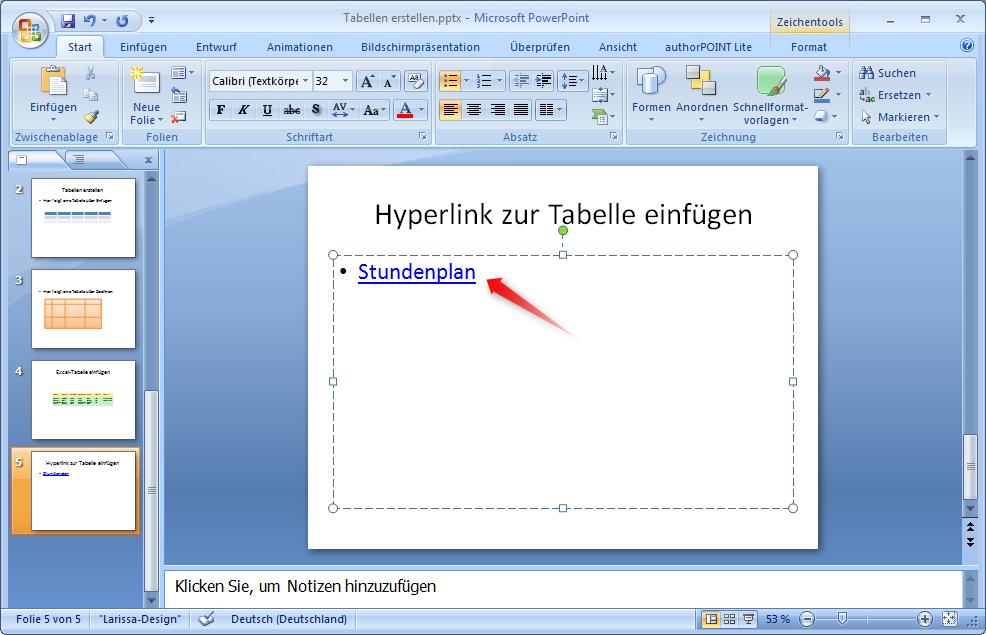 Excel-Tabellen in Microsoft PowerPoint einfügen – Supportnet