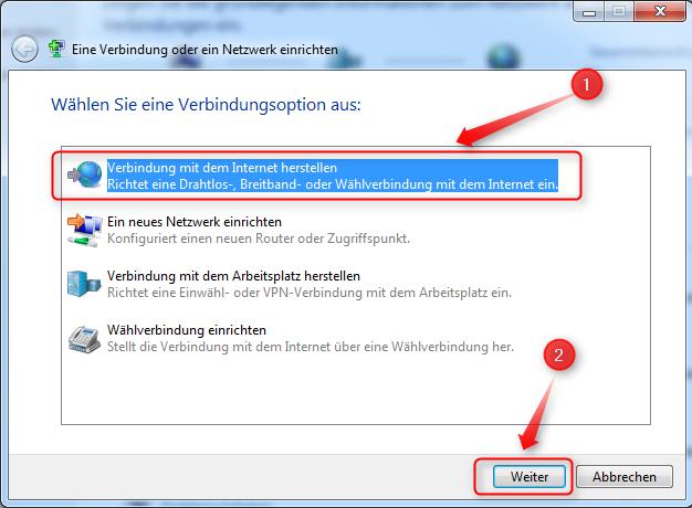 Unter Windows 7 Eine Dfü Breitband Verbindung Pppoe Einrichten