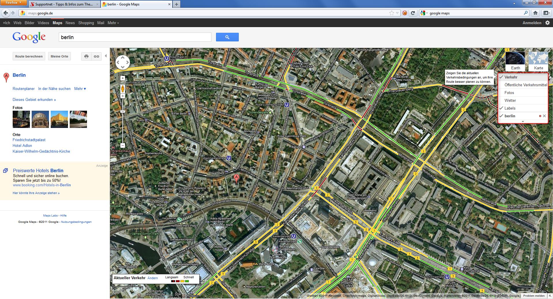 google maps die welt von oben video supportnet. Black Bedroom Furniture Sets. Home Design Ideas