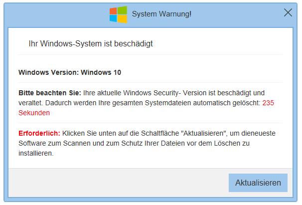 Ihr Windows System Ist Beschädigt